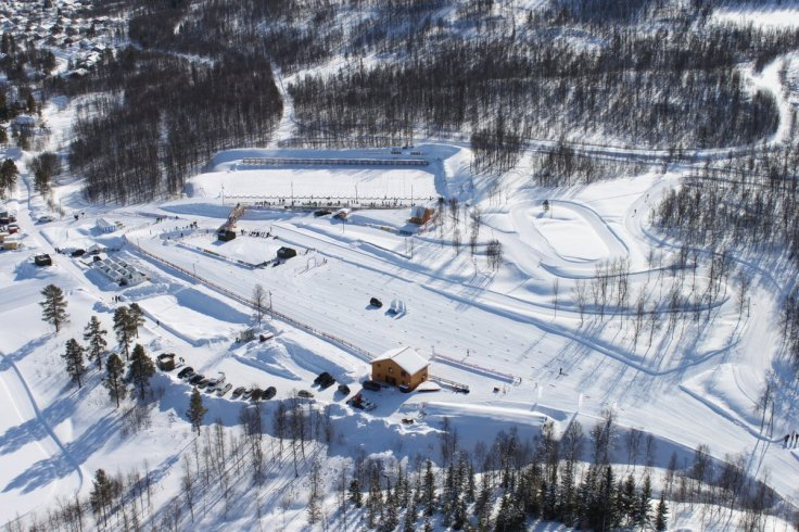 Bardufoss Skisenter flyfoto
